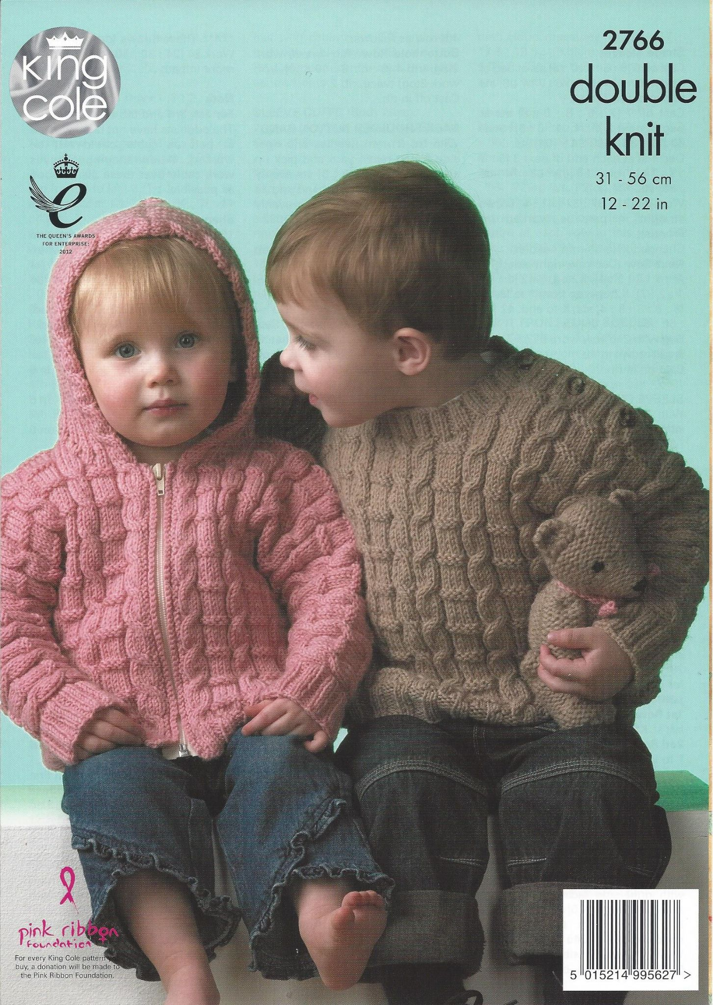 King Cole Baby DK Knitting Pattern - 2766 Sweater Jacket & Sleeping Bag